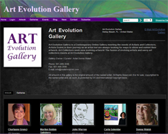 Artist Website for Art Evolution Gallery