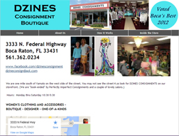 Business Website for Dzines Consignment